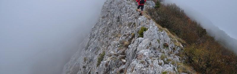 Greben u pravcu vrha Orle - 1480 m